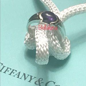 Amethyst 18k Gold & Sterling Silver Ring Vintage